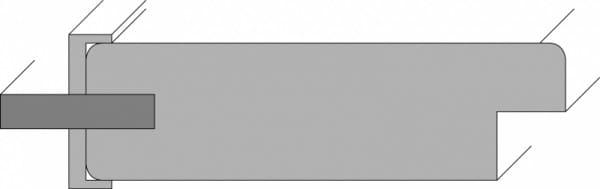 Querschnitt für Vollholz Stiltür Modern Line 17 Weißlack
