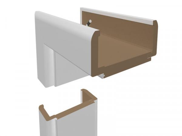Wohnungseingangszarge Weißlack Designkante 70mm