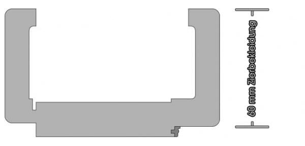 Wohnungseingangszarge Weißlack Rundkante 60mm