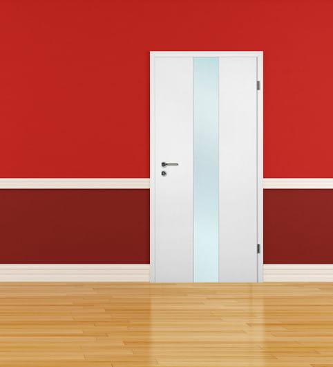 Weißlack Zimmertür Finish 1