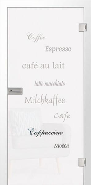 Ganzglastür Cafe