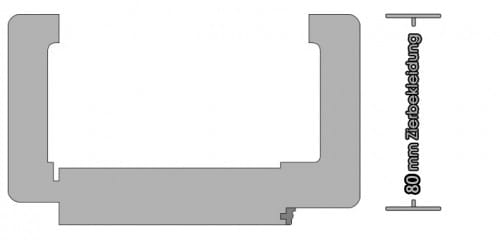 Weißlack Zarge Rundkante 80mm