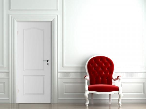 Ambiente für Stiltür Swing 4 Weißlack