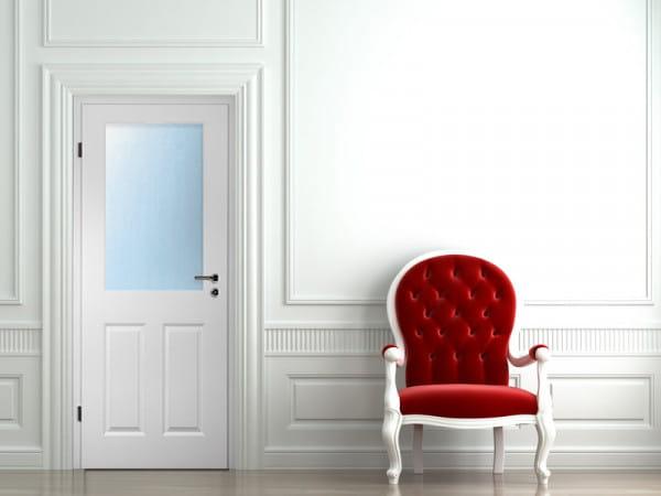 Ambiente für Stiltür Swing 9 Weißlack