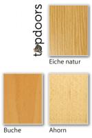 Holzarten für Weißlack Finish 8 Stumpfeinschlagend mit Zarge
