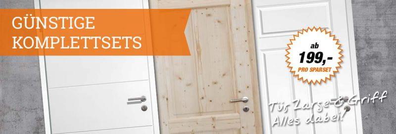 Türen-Sparpakete - Tür, Zarge und Griff