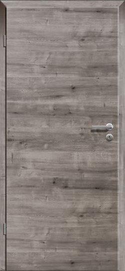 Asteiche Grau quer CPL Innentür eckige Designkante