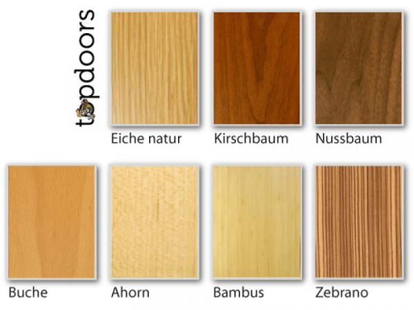 Holzarten für Weißlack Finish 9 Stumpfeinschlagend mit Zarge