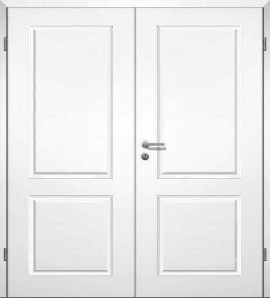 Weißlack Stiltür Swing 1 Zweiflüglig mit Zarge