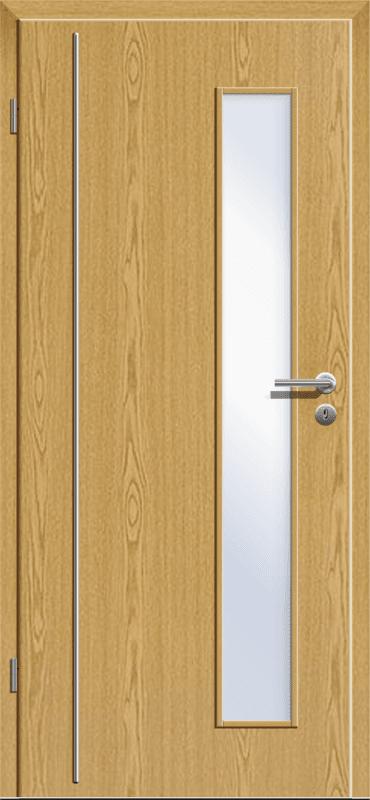 Zimmertür mit Lichtauschnitt