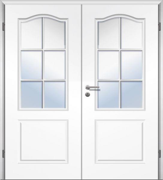 Weißlack Stiltür Swing 12 Zweiflüglig mit Zarge