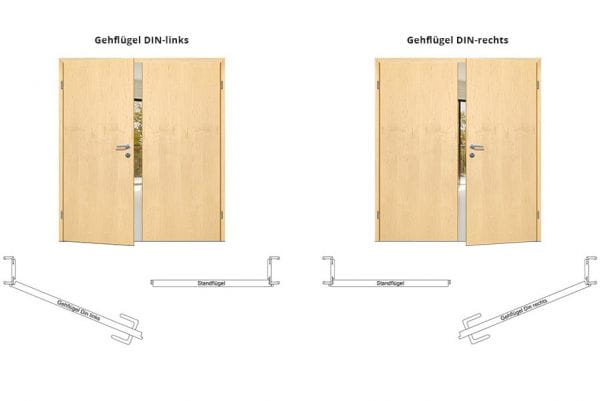 Vollholz-Stiltür Classic Line 1 Zweiflügelig mit Zarge