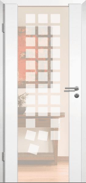 Weißlack Holzrahmentür Style 6