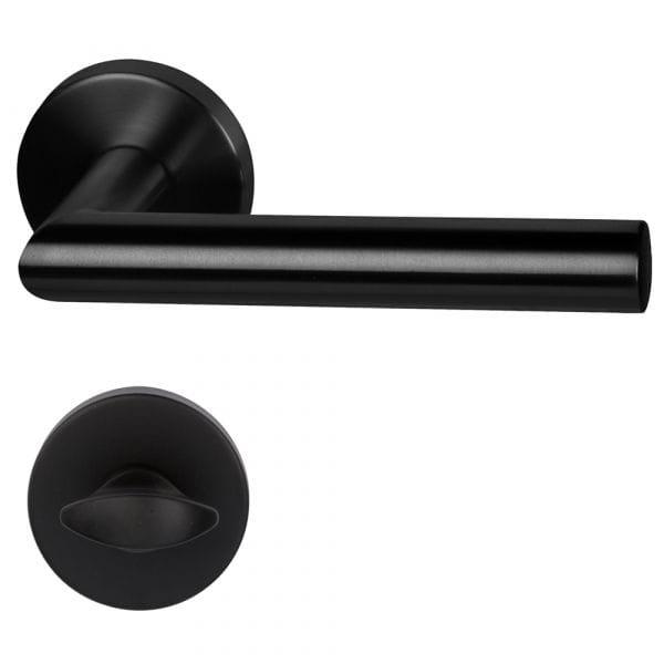 WC-Garnitur Türgriff Ronny II schwarz satiniert