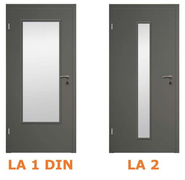 Lichtausschnitte Asteiche Grau quer CPL Innentür