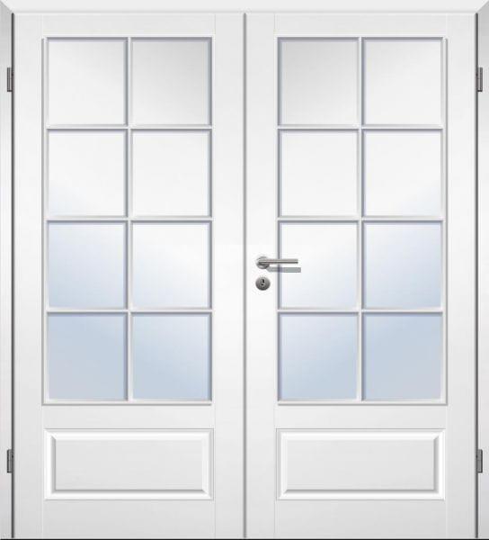 Weißlack Stiltür Swing 16 Zweiflüglig mit Zarge