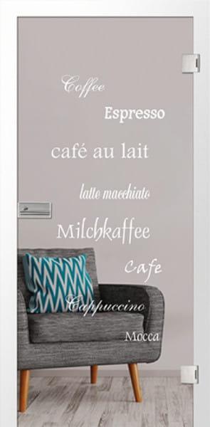 Ganzglastür Cafe light