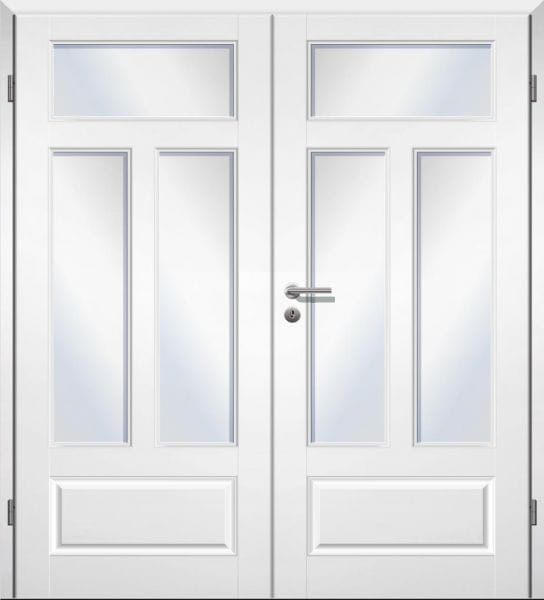 Weißlack Stiltür Swing 15 Zweiflüglig mit Zarge