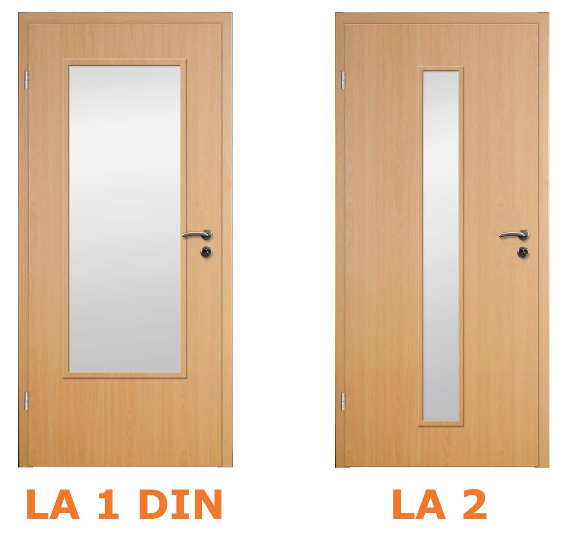 Positionierung der Glasausschnitte bei Innentüren