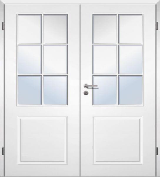 Weißlack Stiltür Swing 5 Zweiflüglig mit Zarge