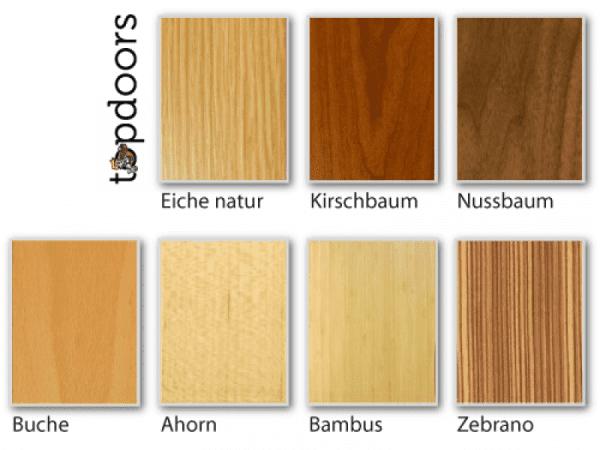Holzarten für Weißlack Finish 4 Stumpfeinschlagend mit Zarge