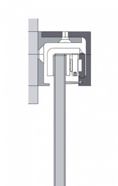 Asteiche Grau längs CPL Schiebetür