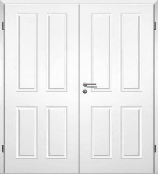 Weißlack Stiltür Swing 3 Zweiflüglig mit Zarge
