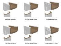 Weißlack Designtür Style 26 Zweiflüglig mit Zarge