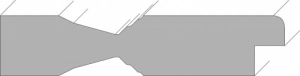 Querschnitt für Stiltür Swing 5 Weißlack