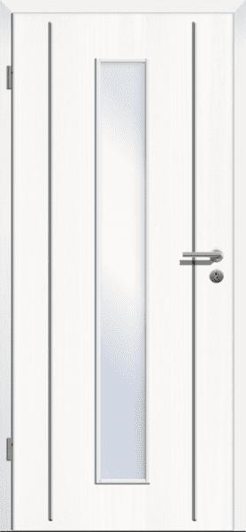 Styletuer 9 Esche weiss dk Cpl mit Lisenen