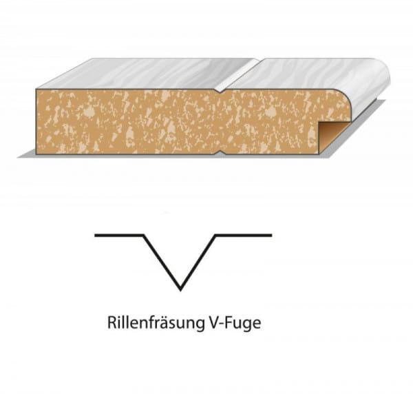 Design Innentür Style 14 Weißlack V-Fuge