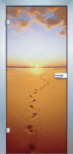 Ganzglastür Color Sandwalk